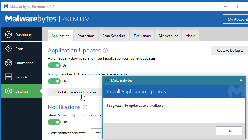 How to manually download malwarebytes definitions updates update.