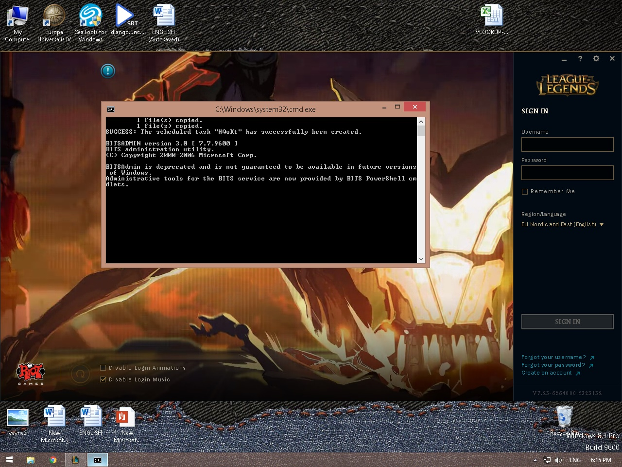 cmd exe at start and awd cleaner repeating result - Resolved