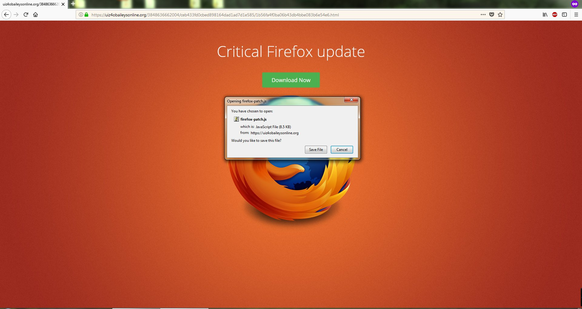 Bogus Firefox Updates - Resolved Malware Removal Logs - Malwarebytes