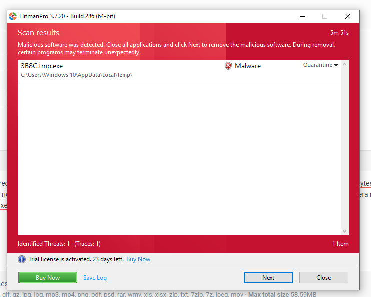tmp exe malware - Resolved Malware Removal Logs
