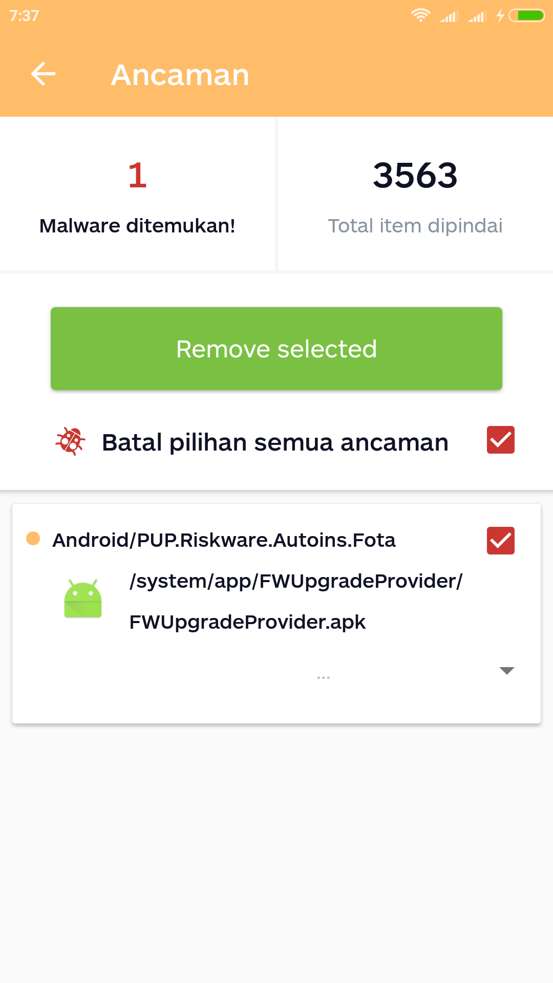 Pre Installed Malware - Malwarebytes for Android Support