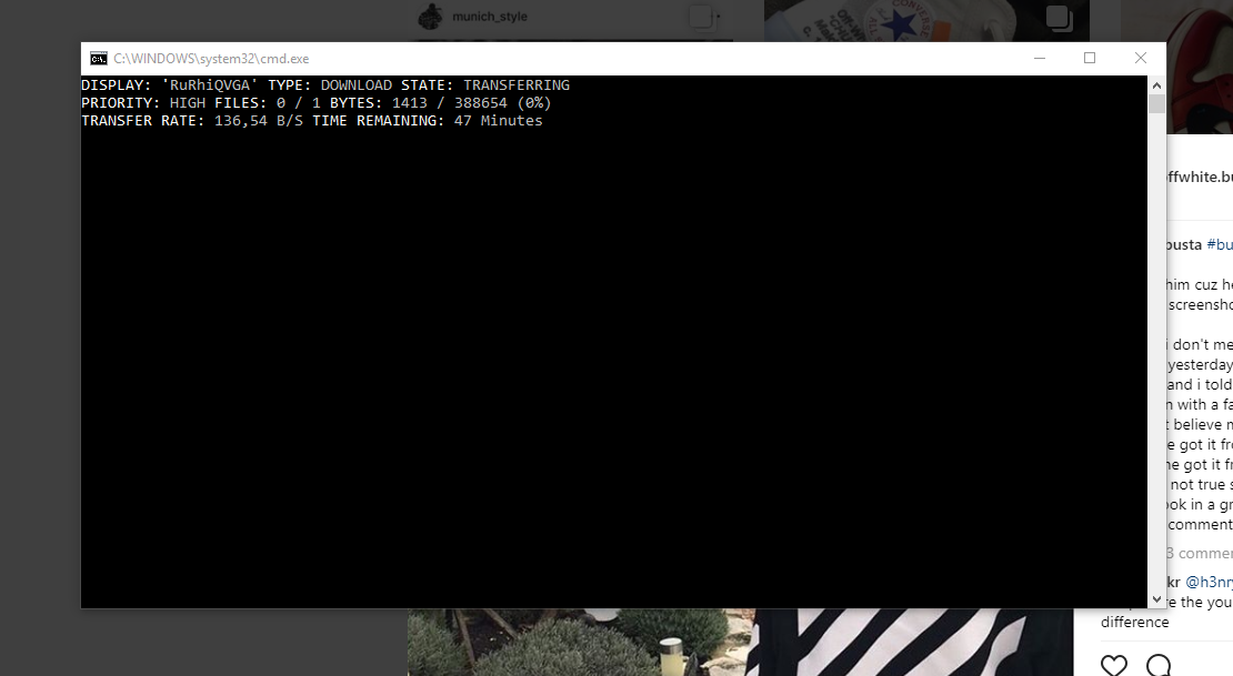 Command Prompt randomly popping up and trasnferring files