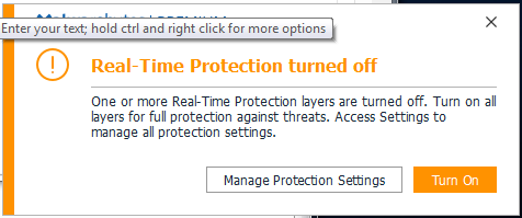 Malwarebytes real time protection won t start