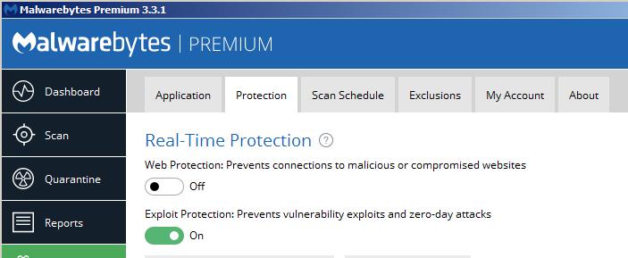 malwarebytes web protection not starting 2018