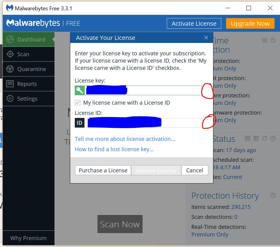 malwarebytes premium key free