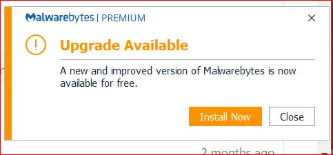 how to stop annoying installation popups? - Malwarebytes 3