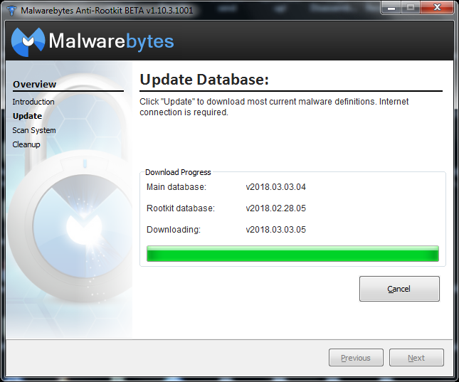 malwarebytes update offline database