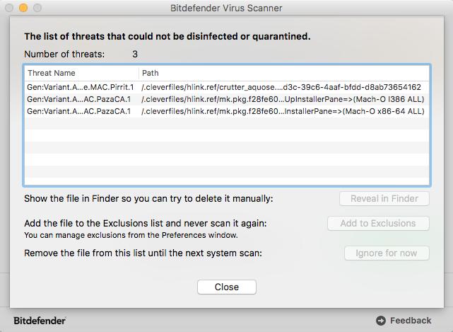 delete quarantined files bitdefender