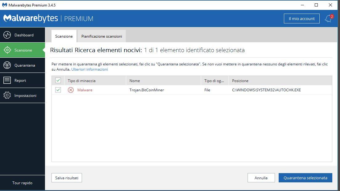 Trojan.BitCoinMiner - autochk.exe detection ? - Malwarebytes