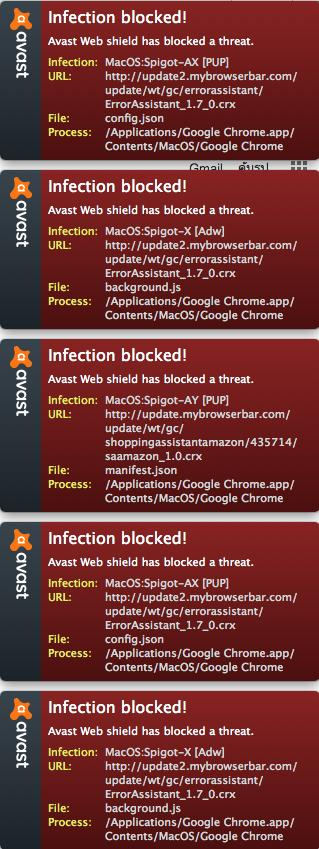 Avast is reporting blocking: Mac OS:Spigot-X [Adw] - Mac