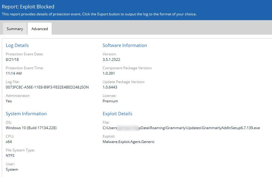 Exploit payload blocks MS Word Office 365 operation