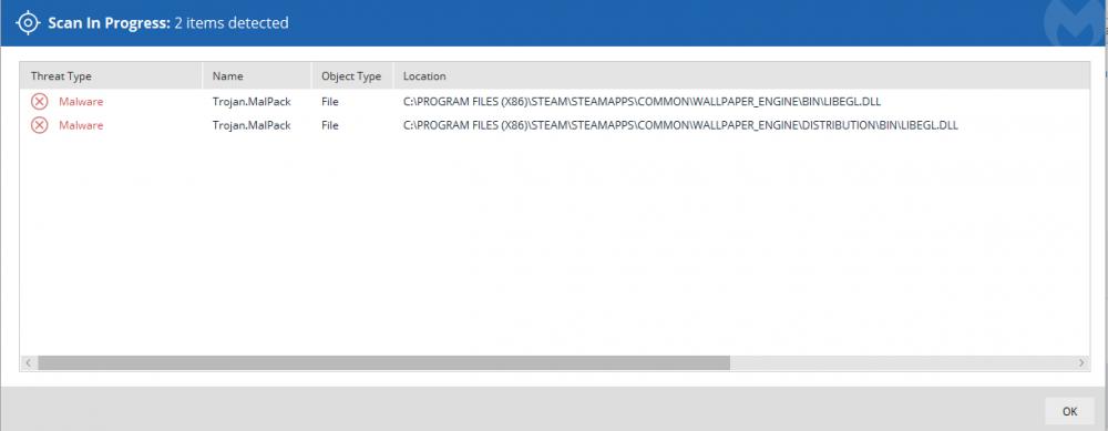 trojan.malpack found in spotfiy/wallpaper engine folders? - File