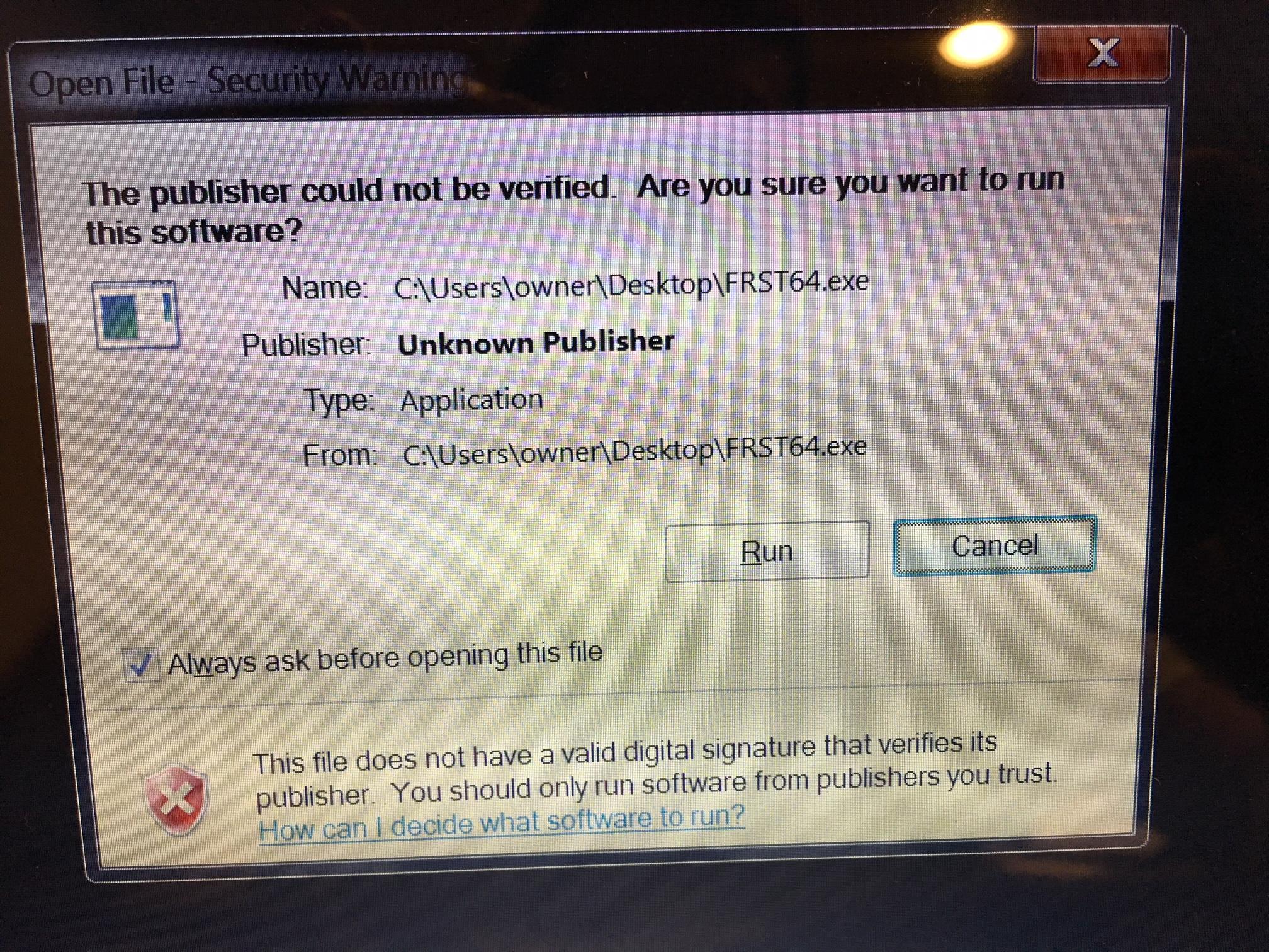 WERFAULT EXE - MALWARE?? - Resolved Malware Removal Logs