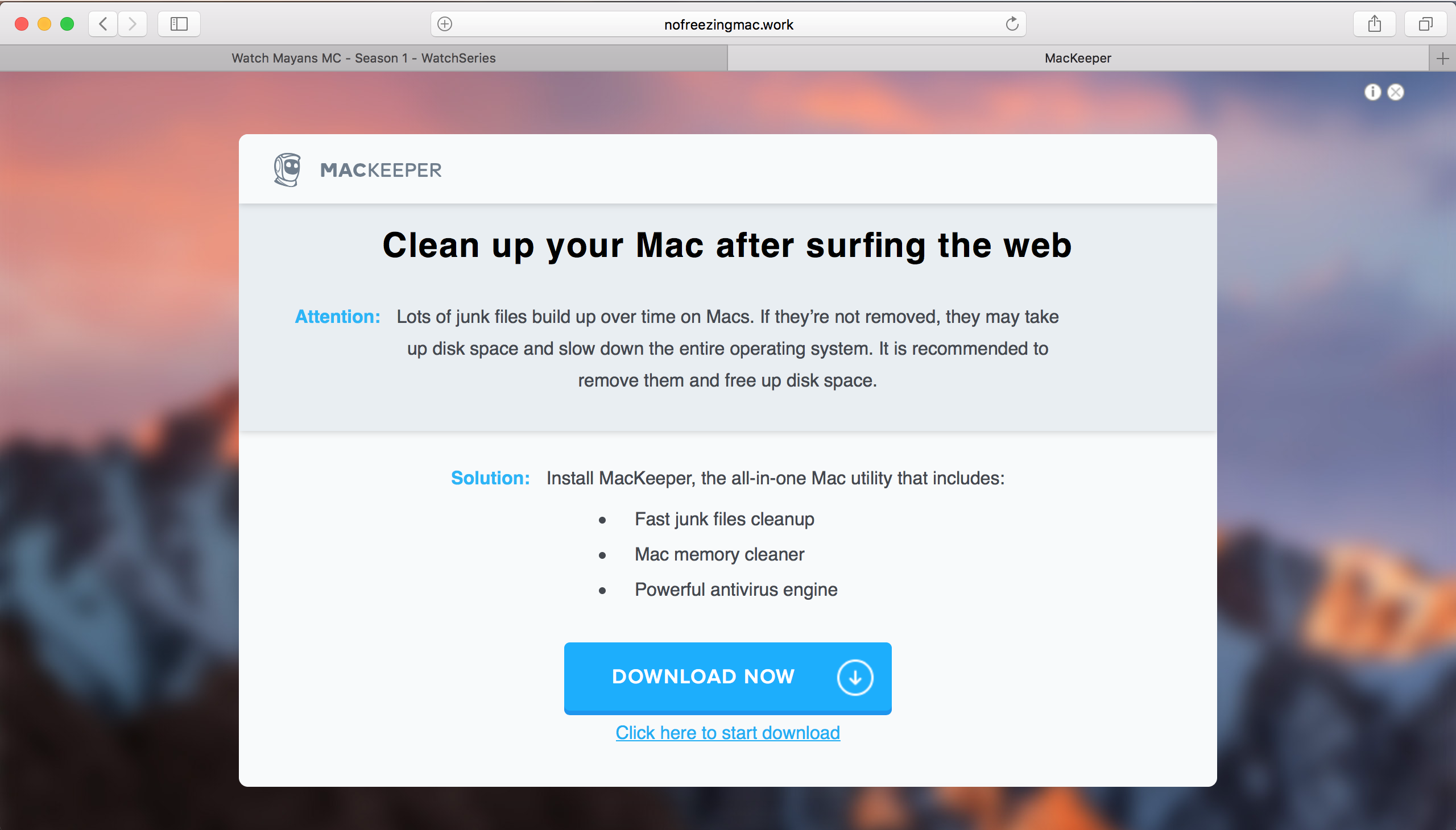 mackeeper keylogger