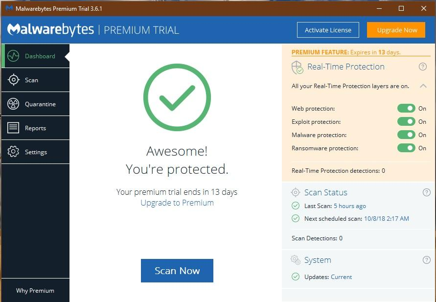 Running Malwarebytes and Bitdefender together? - Malwarebytes 3