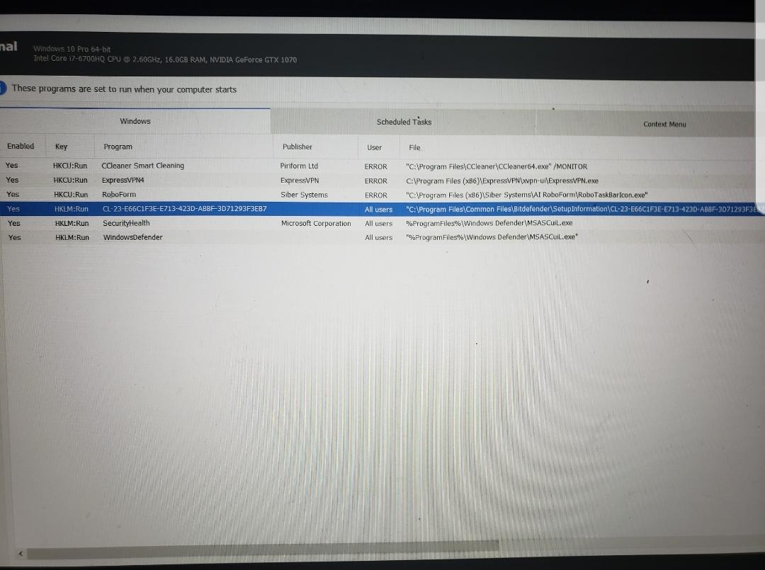 Laptop heavily infected plus hacked remote control
