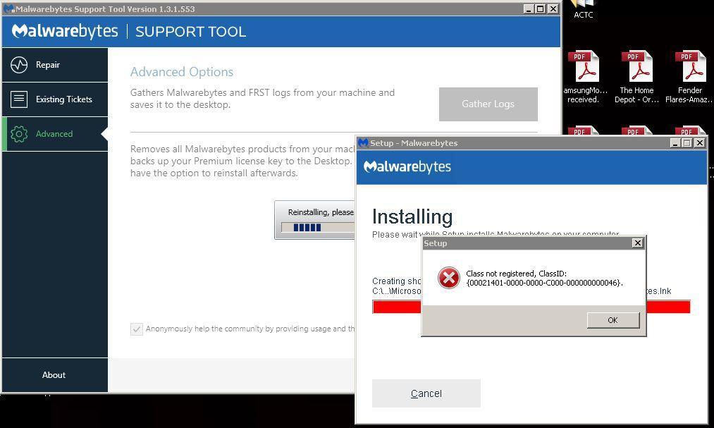 malwarebytes and avg together