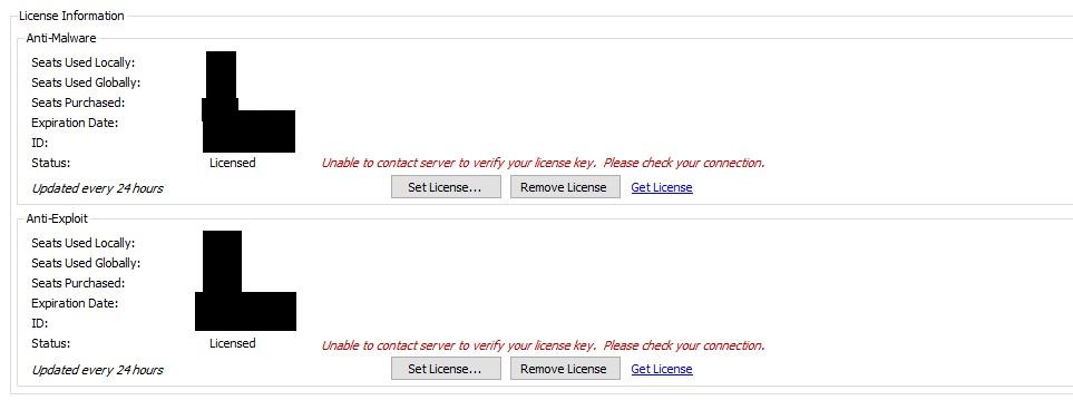 malwarebytes license server