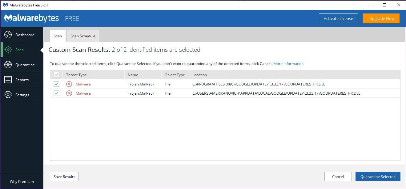 Trojan.MalPack - False Positive? - Resolved Malware Removal Logs
