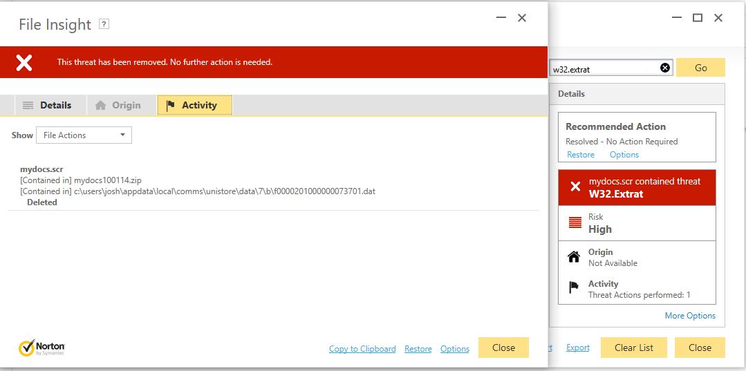 W32 Extrat - Resolved Malware Removal Logs - Malwarebytes Forums