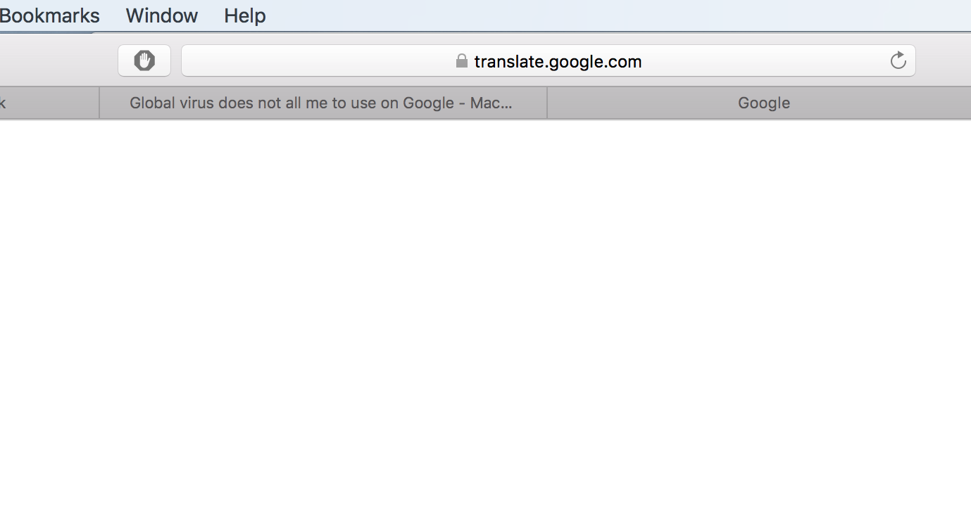 Global virus does not all me to use on Google - Mac Malware