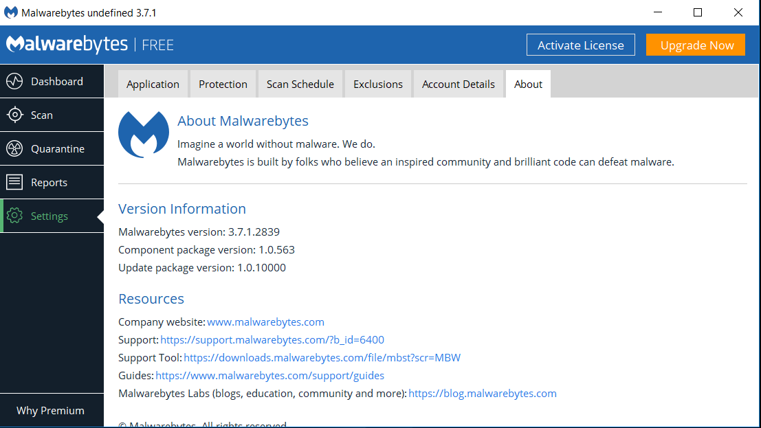 Unable to contact license and update servers - Malwarebytes 3