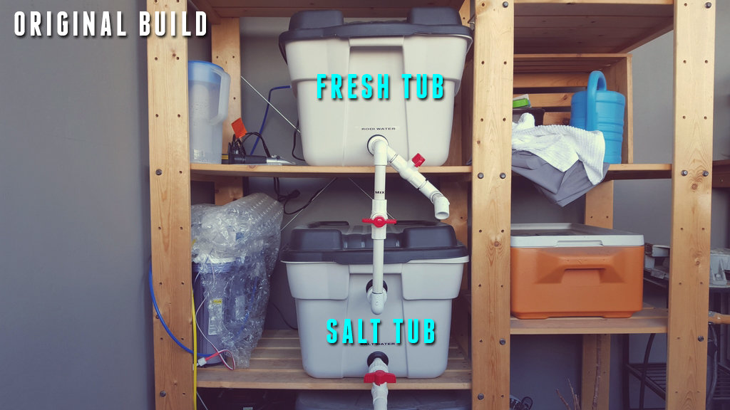 Build A Saltwater Mixing & Water Change Station