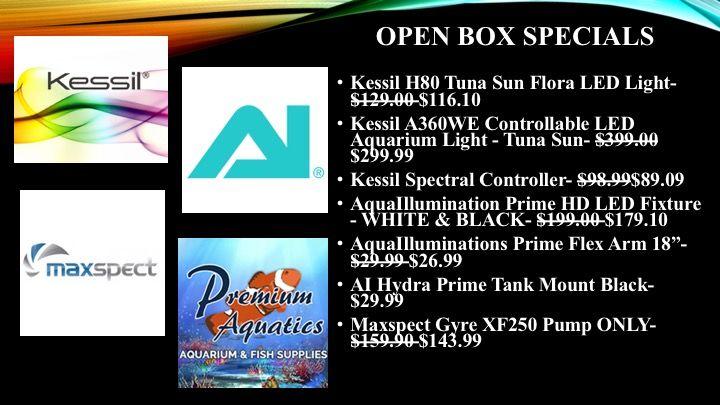 OPEN BOX Specials: Kessil, AI, MaxSpect - Premium Aquatics