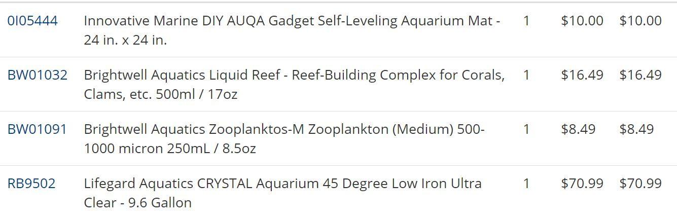 Shopping list: supplements, new aquarium   ?!!! - General