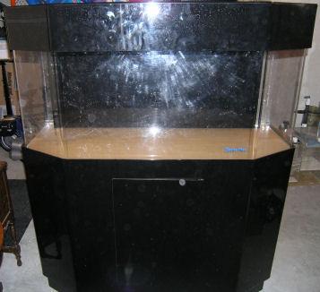 65 Gallon Acrylic Clarity Plus Flat back hex tank,stand and