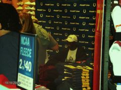 Reggie signing autographs at Castleton Square mall