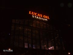 Night time at Lucas Oil  Stadium