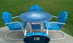 hand painted lawn furniture without umbrella 2