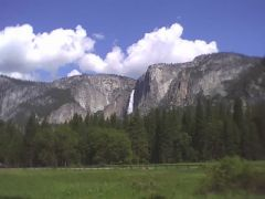 Yosemite Falls and Meadow