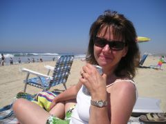 My wife Terri at the Beach