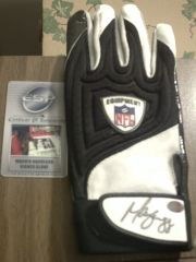 my Marvin Harrison signed game used glove