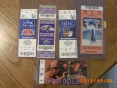 Sb V ticket and Super bowl 41 ticket plus all of the post season tickets for SB 41.