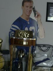 my Peyton Manning autographed life sized stand up