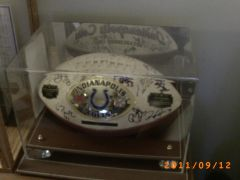 My Team signed 2006 Super Bowl football