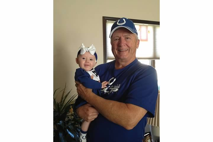 Papa Leming and his granddaughter Ruby Marie