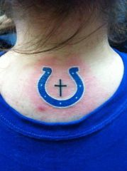 Finally Got my Colts tattoo today!