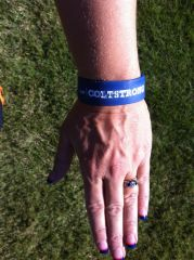 My wrist band from Colts strong!