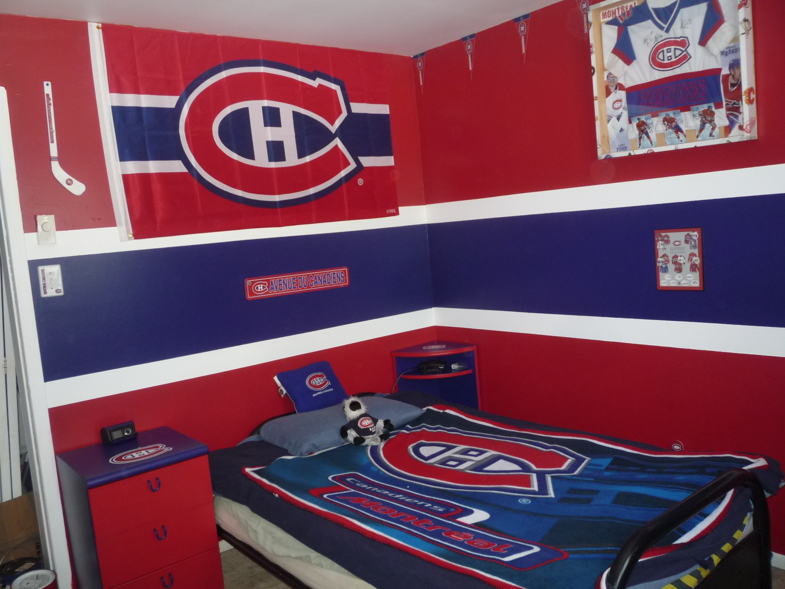Dream Hockey Room Habs Fans Partisans Tricolore