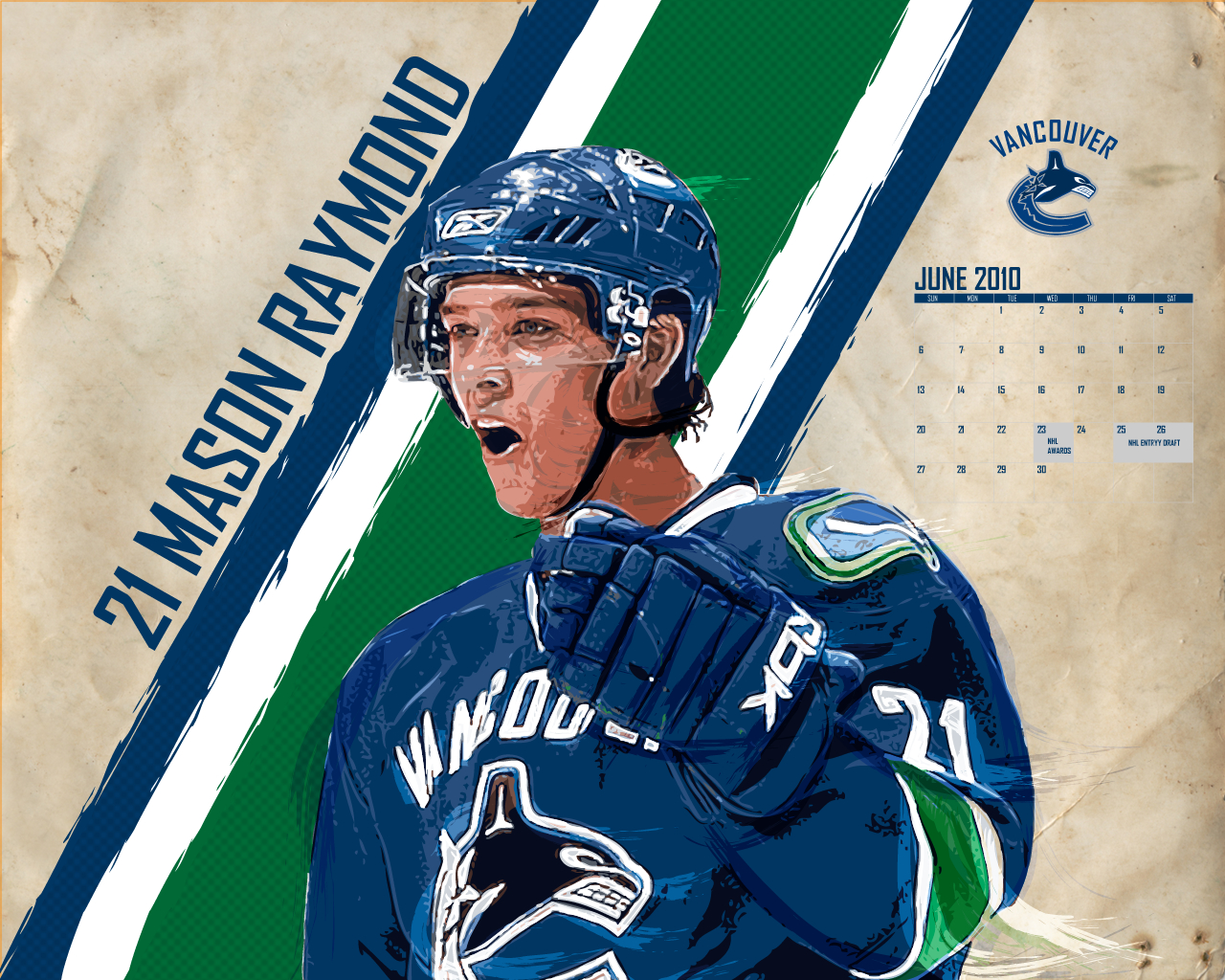 M. Raymond. Canucks. Wallpaper. June 2010.