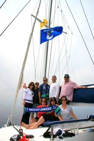Canuck Fans Sailing in Croatia