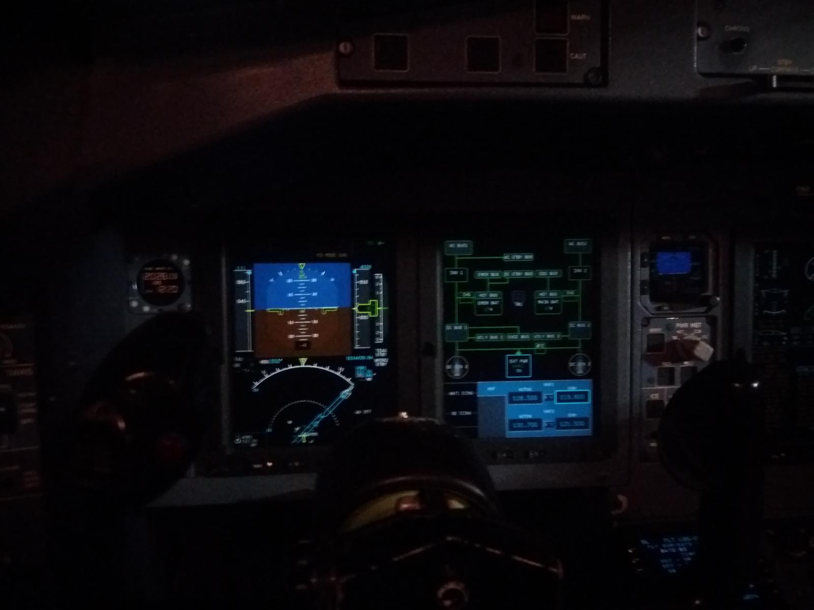 the cockpit of the ATR-72-600
