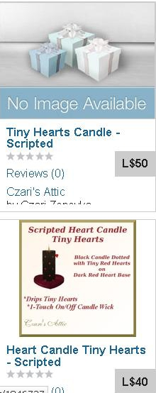 Duplicate Heart Candle - Tiny Hearts.JPG