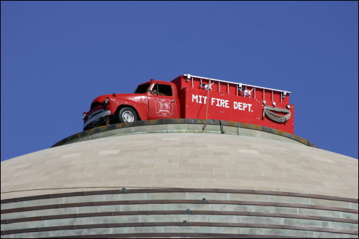 Fire Truck on MIT Dome.jpg