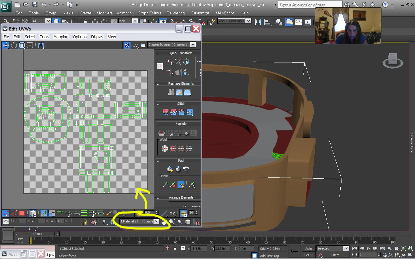 Multi Sub Object material Id's & UV Mapping (3ds Max 2013) - Mesh