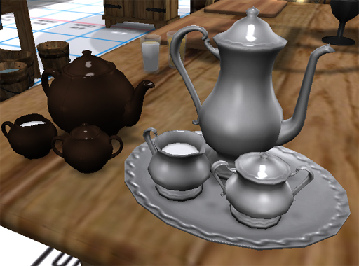 Silver Coffee Service and Ceramic Tea Set.jpg